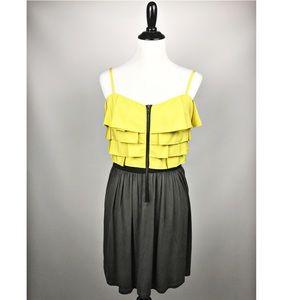 ELLE mustard and slate dress size Medium